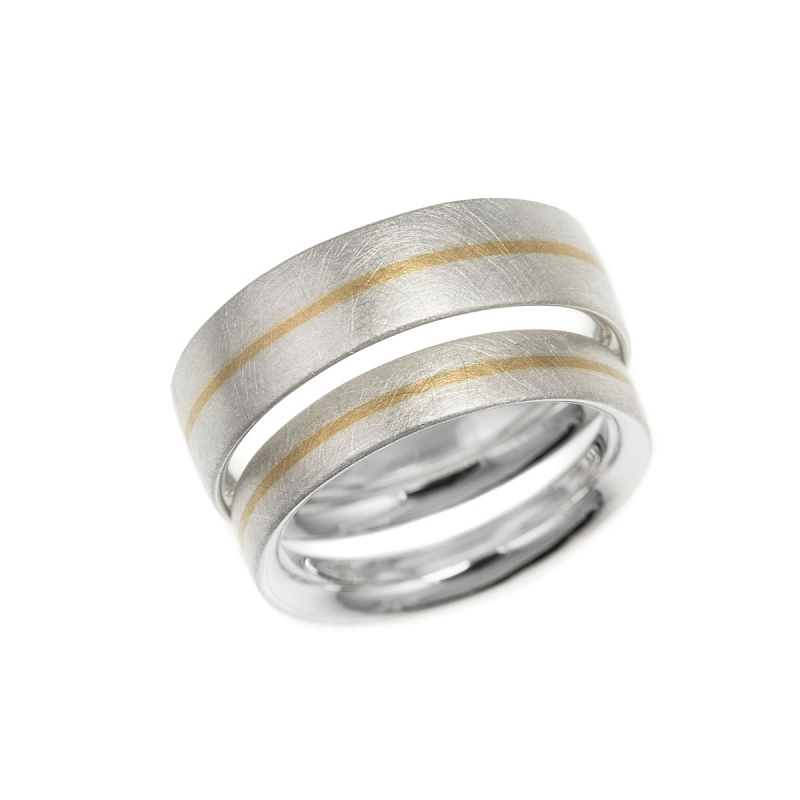 Silver and gold stripe rings Photo hannah_webster_sq-3964.jpg