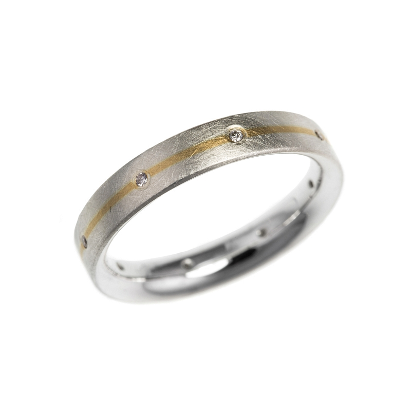 Silver and gold stripe rings Photo r145.jpg