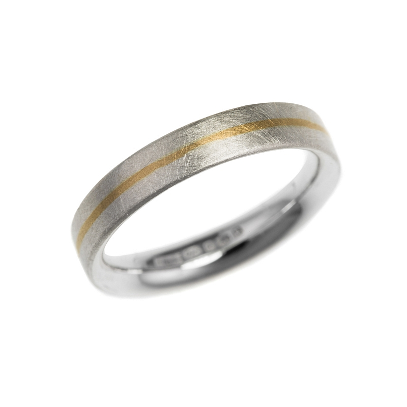 Silver and gold stripe rings Photo r96.jpg