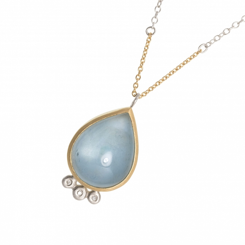 P56 Pear shape aquamarine and diamond pendant Photo p56.jpg