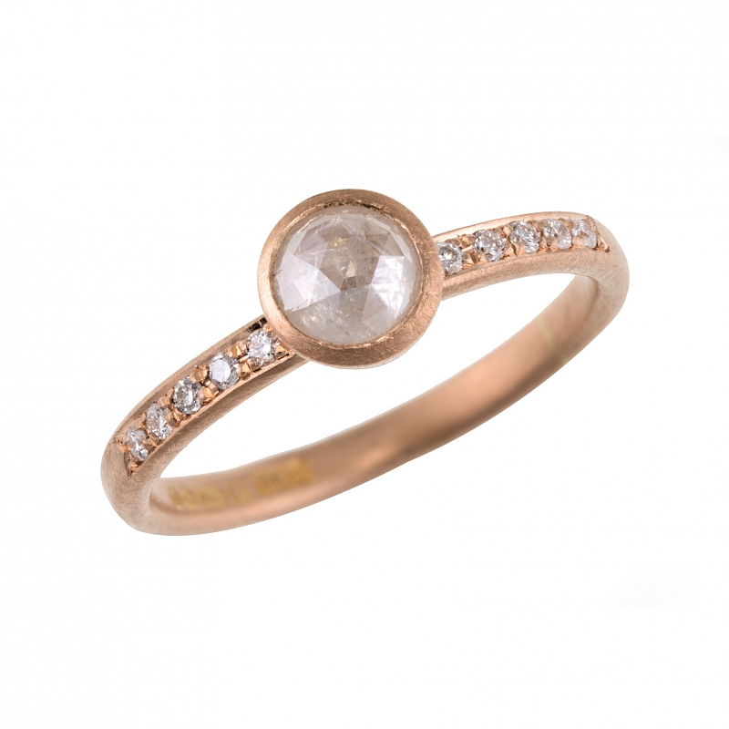 R375 rose gold rose cut diamond ring Photo r375.jpg